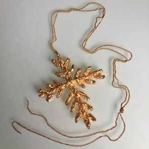 CHRISTIAN LACROIX VINTAGE CROSS PENDANT ON CHAIN